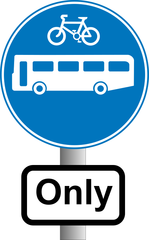 Roadsign Buses and bikes by Simarilius - 'Buses and bikes' sign by John Cliff. From OCAL 0.18 release.