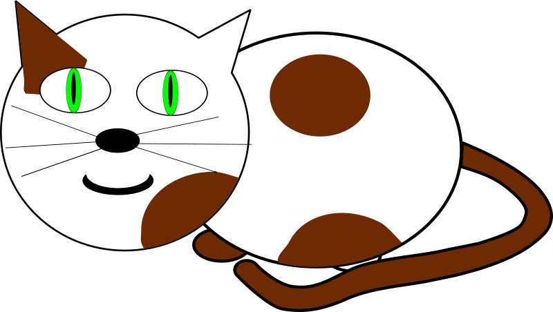cat3 by Machovka - A white cat with brown spots.