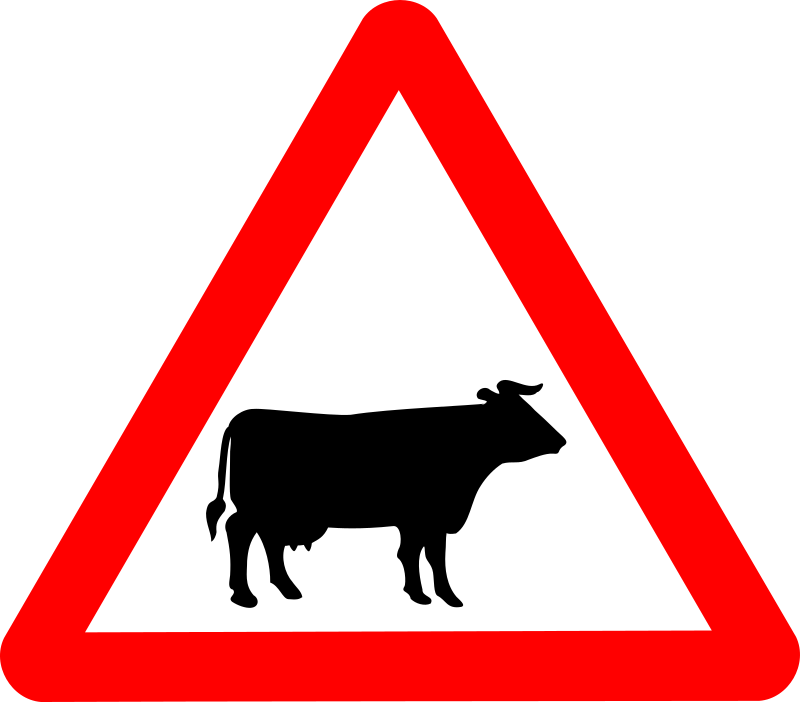 Roadsign Cattle by Simarilius - 'Cattle' roadsign by John Cliff. From OCAl 0.18 release.