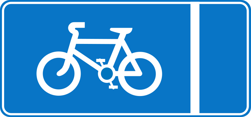Roadsign Cycle lane by Simarilius