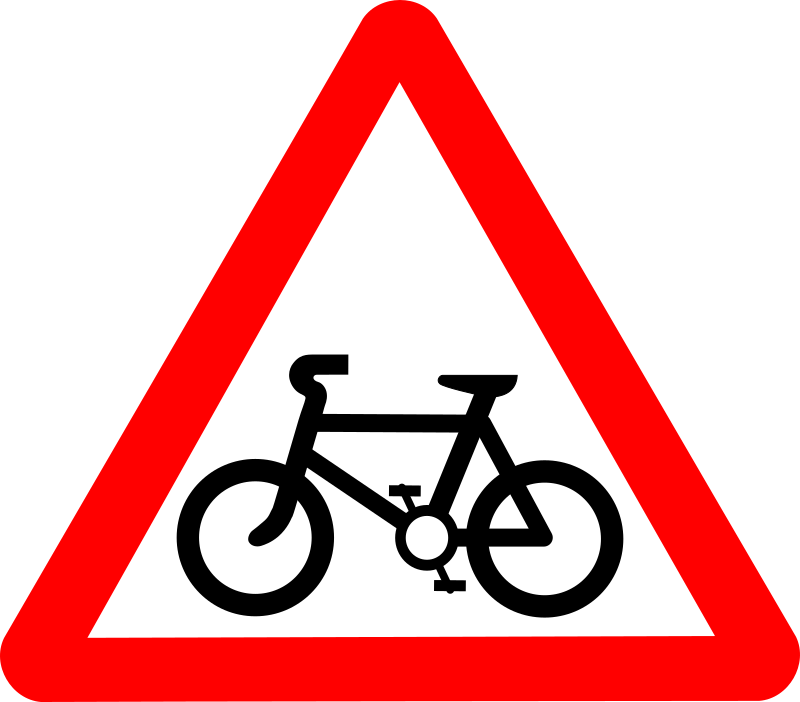 Roadsign Cycle route by Simarilius