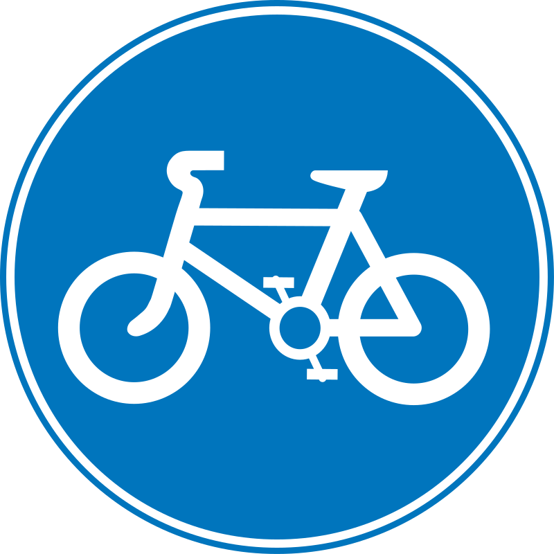 Roadsign Cycles by Simarilius - A roadsign by John Cliff. From OCAL 0.18 release.