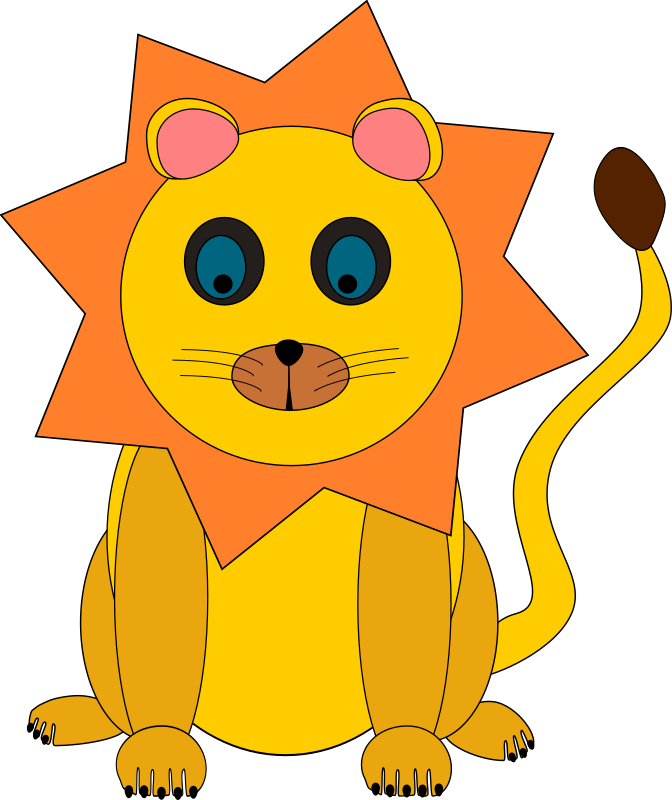 lion by Machovka - A clipart of little lion