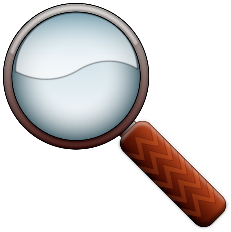 Magnifying Glass Color by antsorin - Magnifying Glass - made in Inkscape starting from a clipart by Anonyomus.