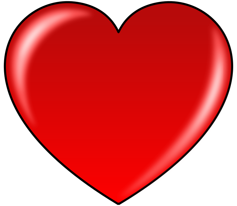 MyHeart by maqndon - A red heart with a white background.