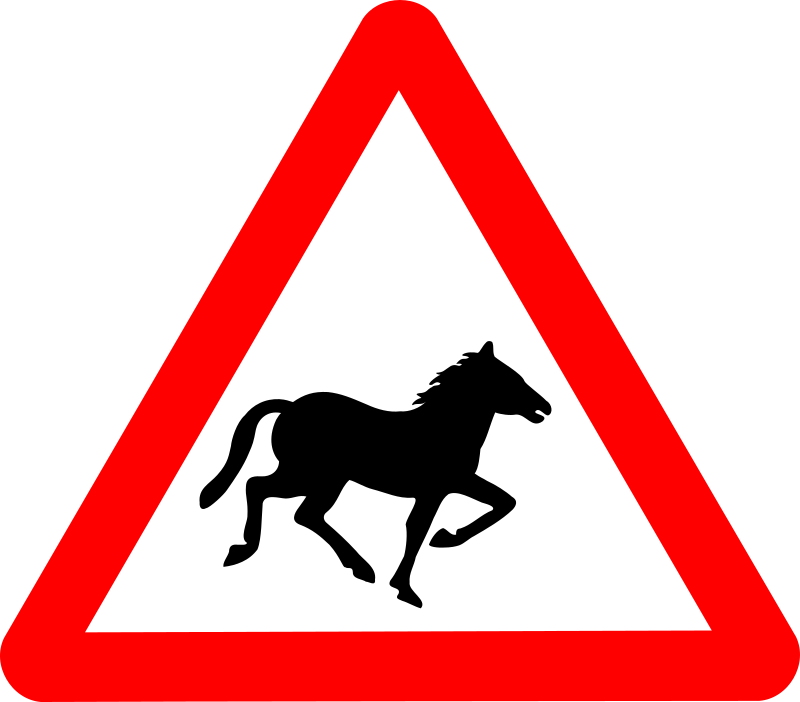 Roadsign Horse by Simarilius - Roadsign with a running horse silhouette by John Cliff. From OCAL 0.18 release.