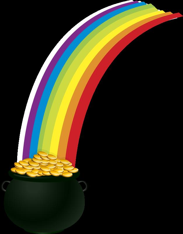 clipart potofgold rainbow