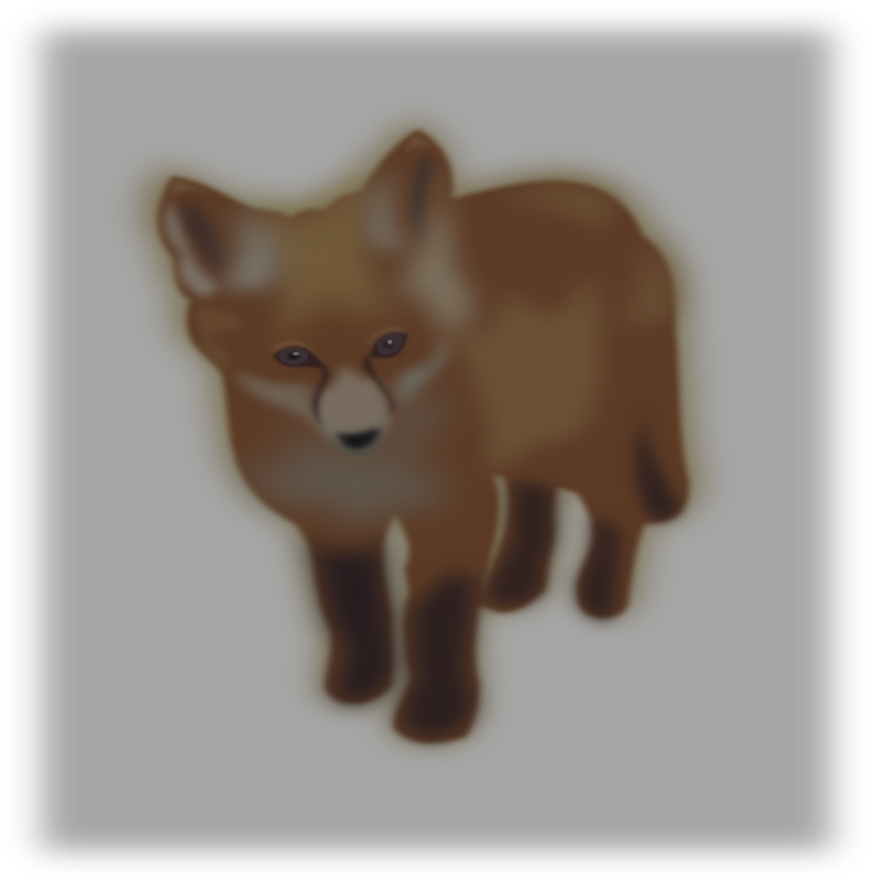 zorro (fox) by silvia2k1 - A little blurry fox with gray background