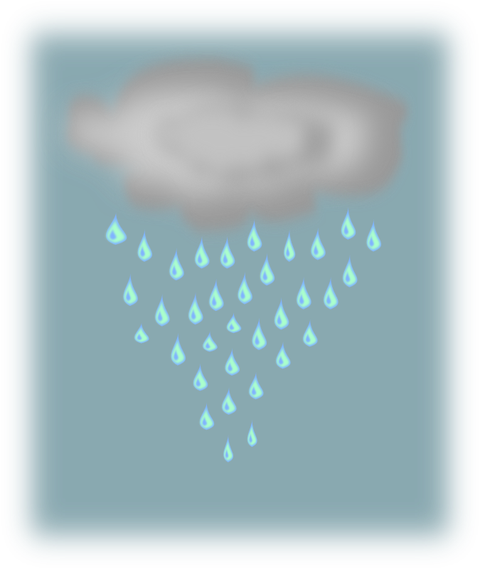 lluvia (rain cloud) by silvia2k1 - A rain cloud raining