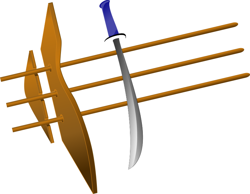 sword with blue hilt by ikabezier - Sword with blue hilt.