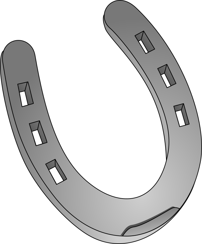 horseshoe by egore911 - This icon is used for the blacksmith in Lincity-NG.