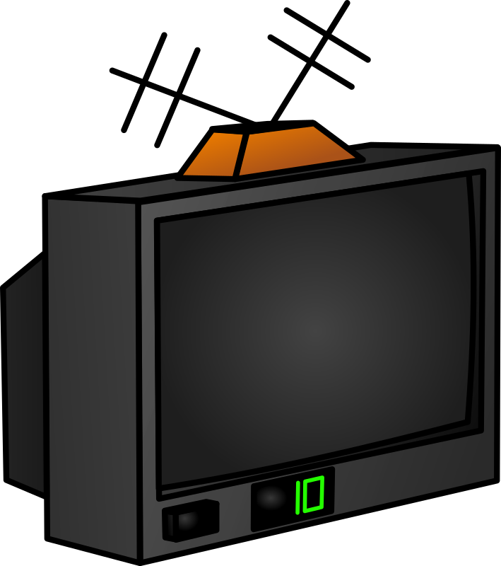 tv by egore911 - A TV with a terrestrial antenna.