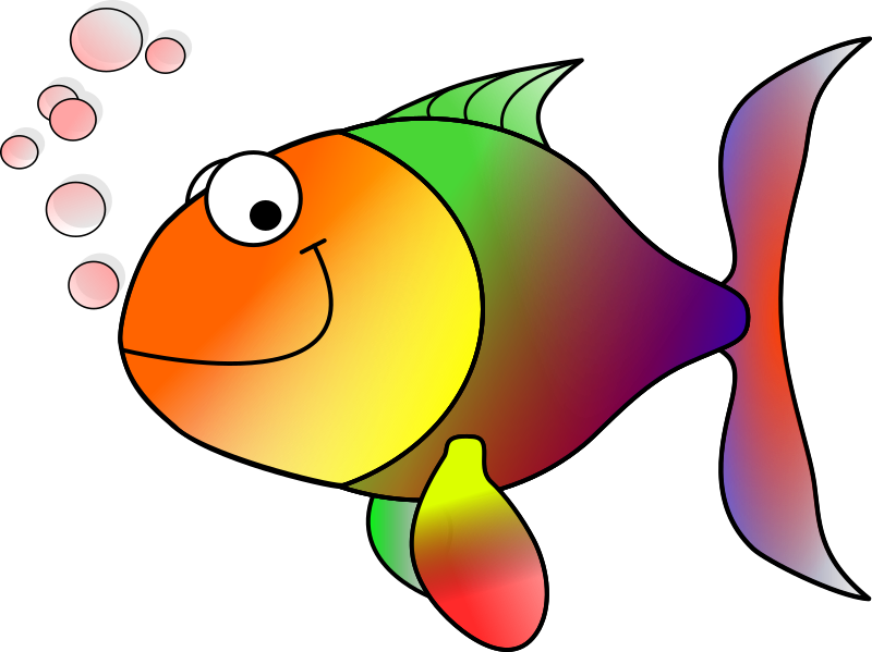 Happy fish by Machovka - A cartoon fish.