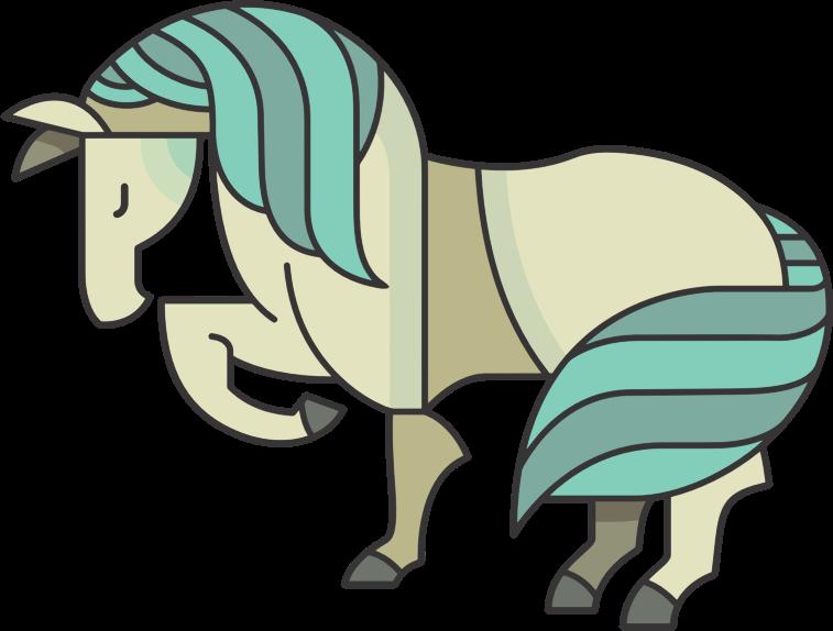 Clipart Stylized Cartoon Horse