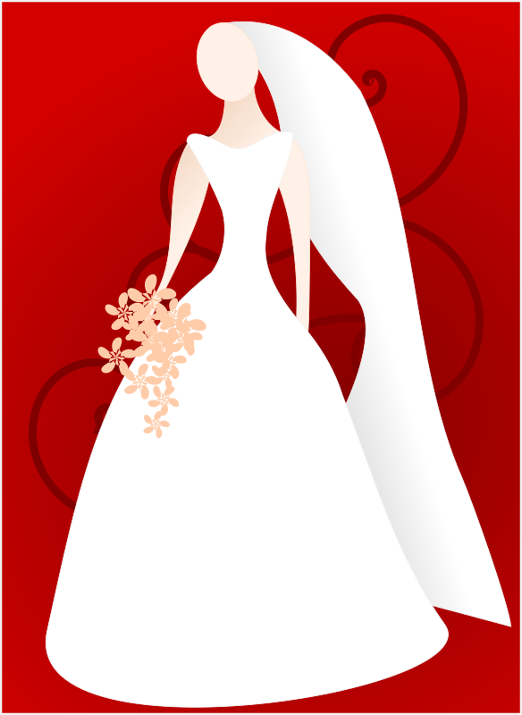 Bride by kattekrab - stylised bride for use in wedding or marriage stationary.