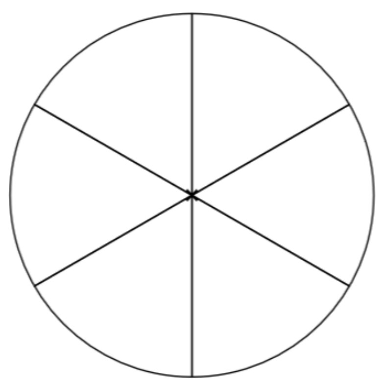 Fraction 06 on Circle Fraction