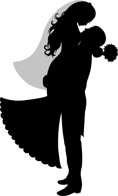 Clipart - Bride And Groom Silhouette