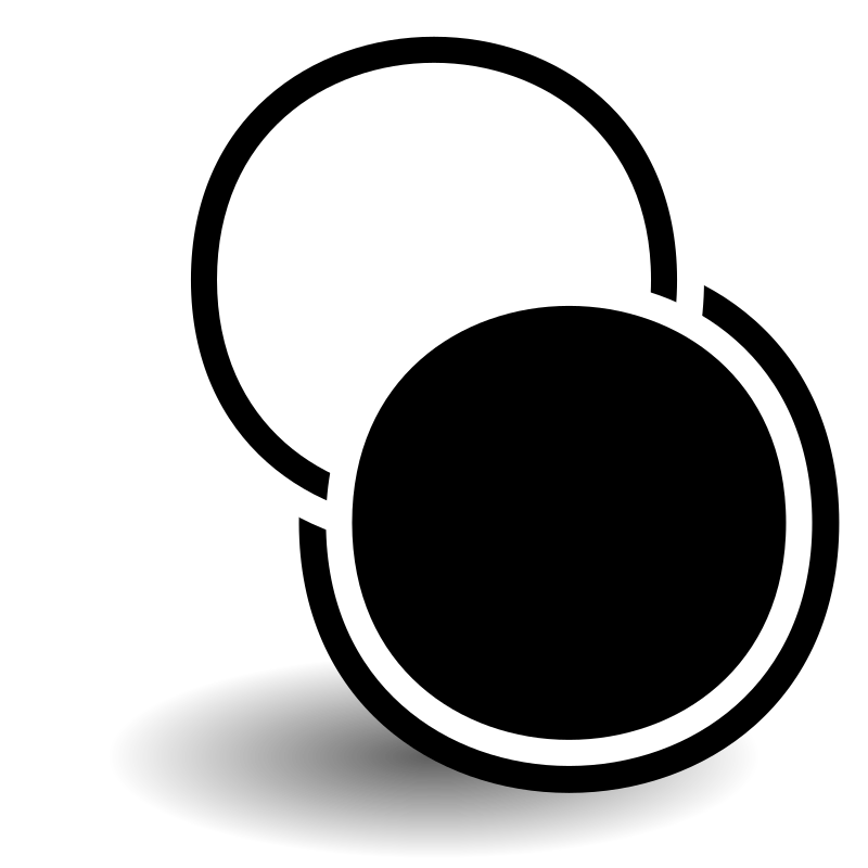 tango_bw by maxim2 - A logo with a white and black circles.