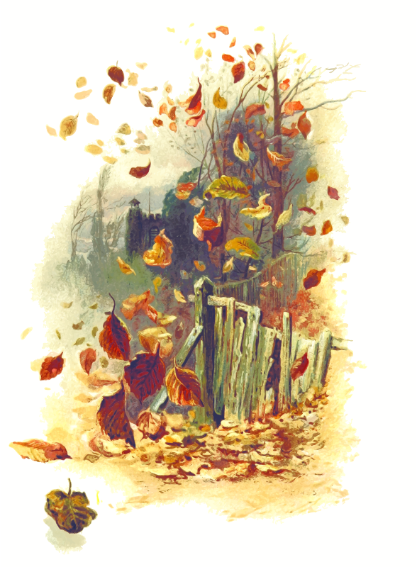 in the wind blowing leaves clip art