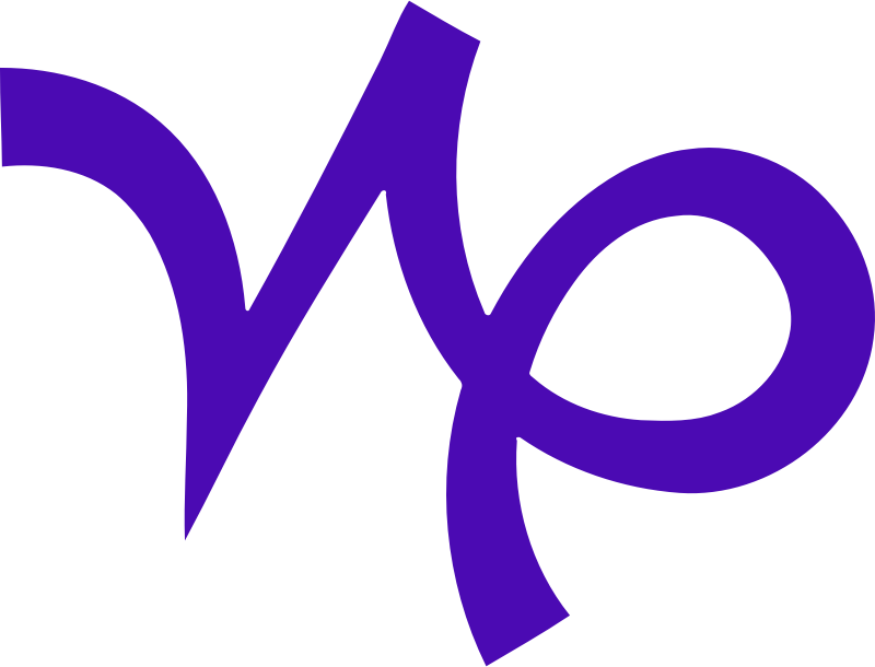 Clipart - Capricorn symbol 2