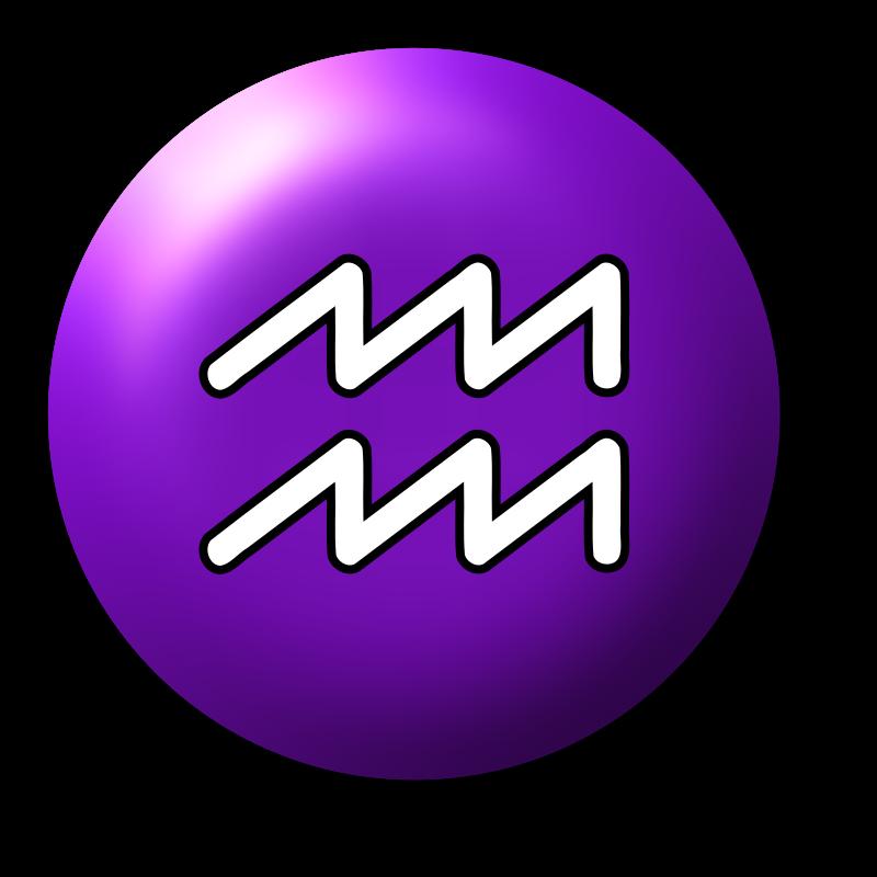 clipart aquarius symbol 3