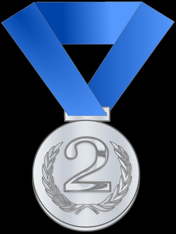 Clipart - Silver medal / award