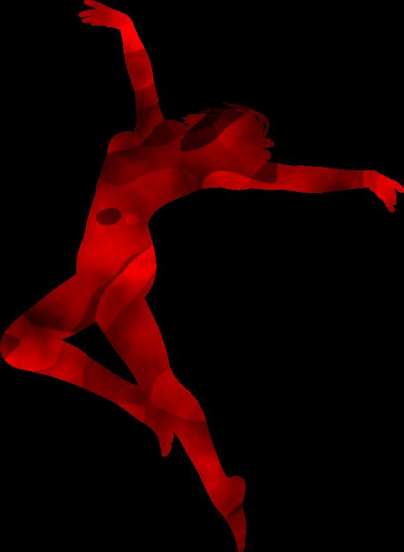Clipart - Dancer silhouette 3