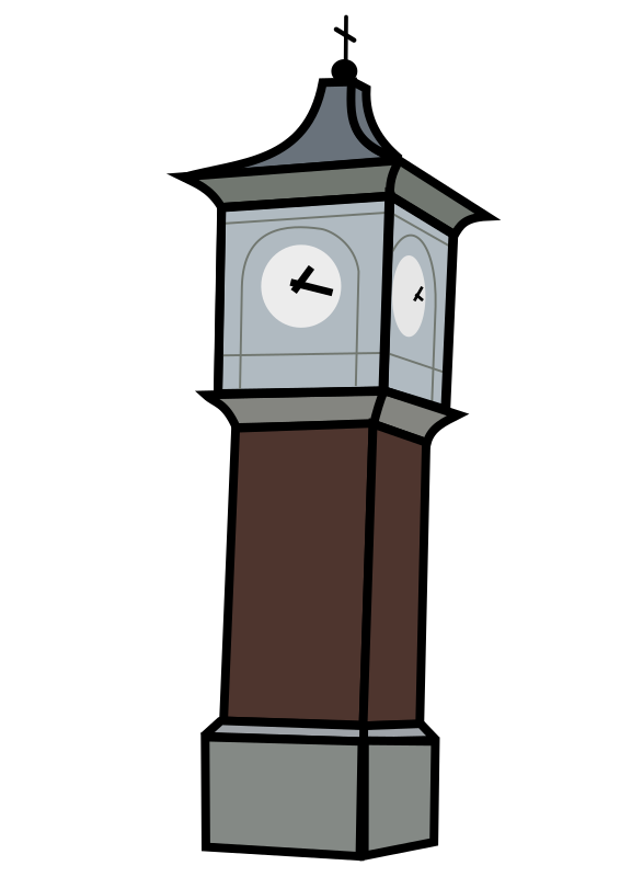 Clock Tower on clock clip art