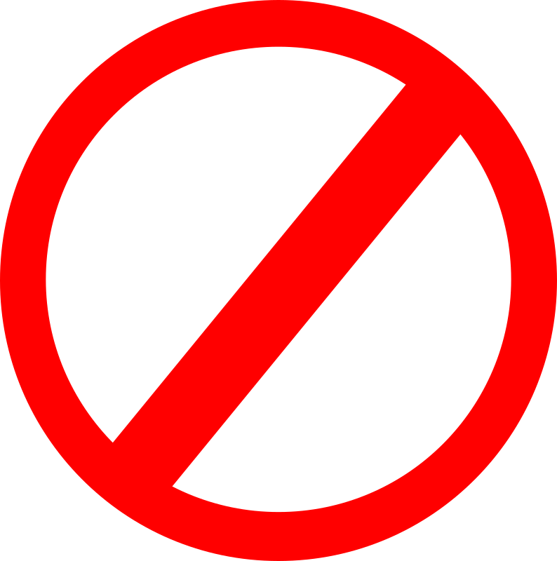 clipart no sign