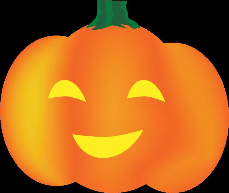 Clipart - Smiley Pumpkin