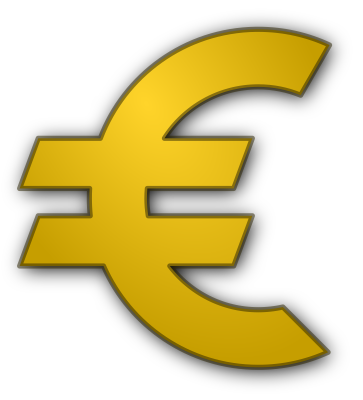 Euro by ernes - Euro currency symbol in gold.