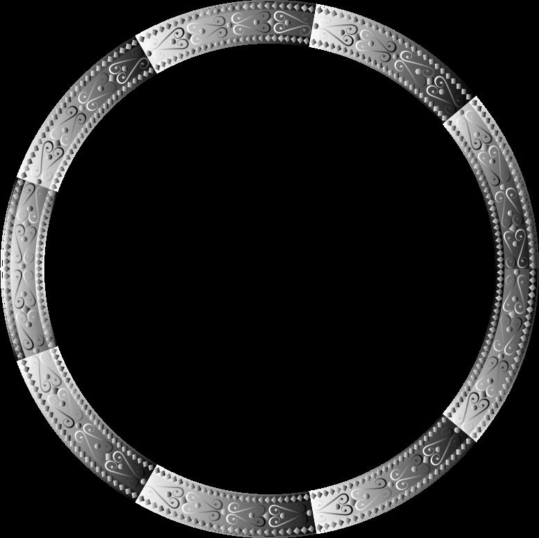 Clipart Prismatic Decorative Ornamental Round Frame 2