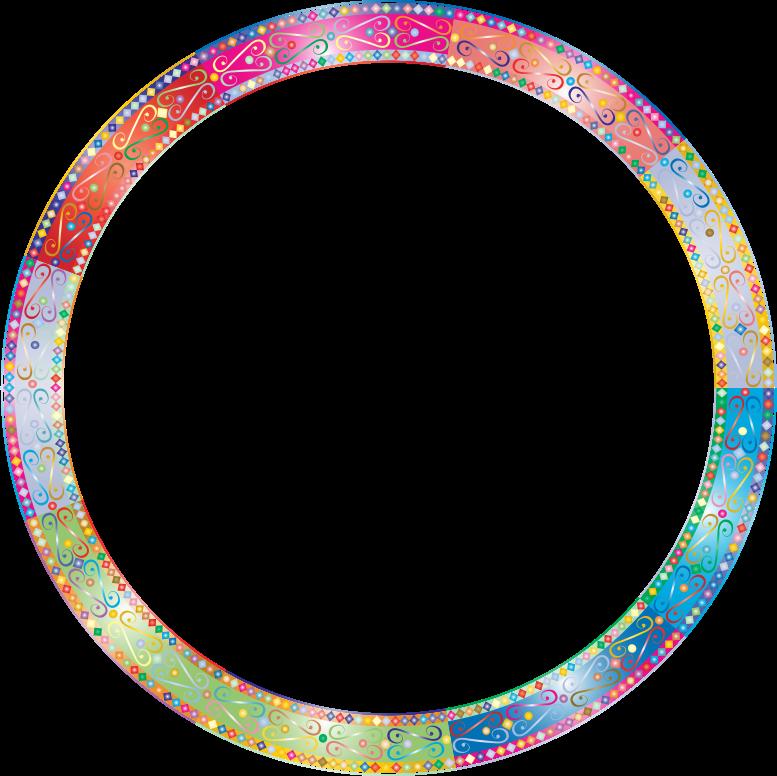 Clipart Prismatic Decorative Ornamental Round Frame 3