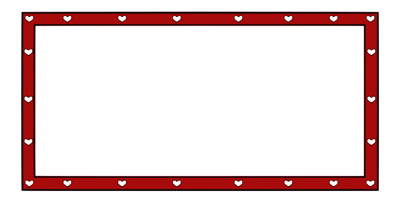 border hearts 4X2 by ryanlerch - Red border with white hearts :)