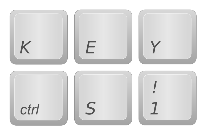 Keyboard Keys by Simanek - I drew these keys to mimic real keyboard keys. They closely resemble the Apple keyboard key style.