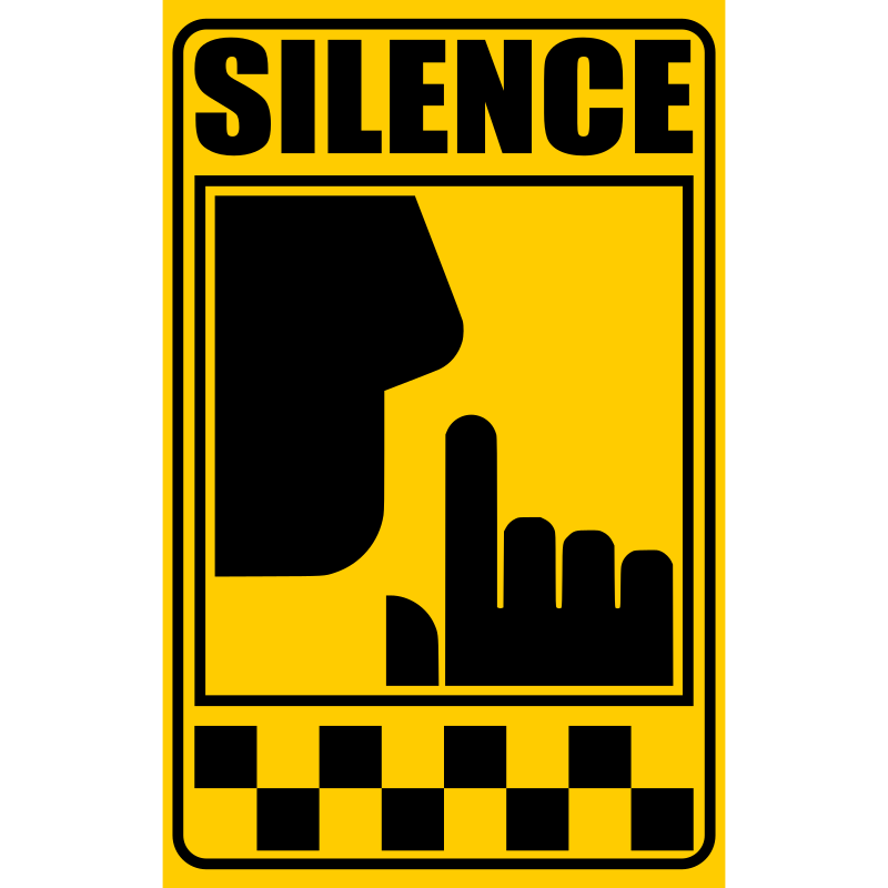 Clipart Signal Of Silence Yellow