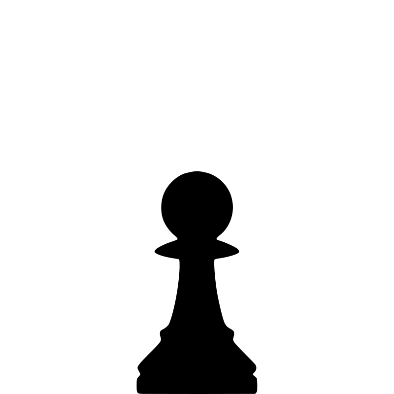 Clipart - Silhouette Chess Piece REMIX – Pawn / Peón