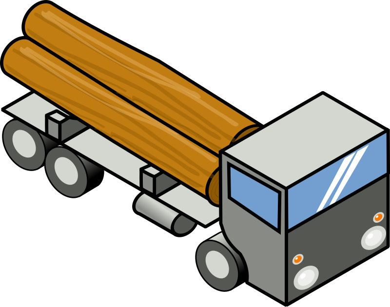 Iso Truck 1 by secretlondon - An isometric truck carrying wood.