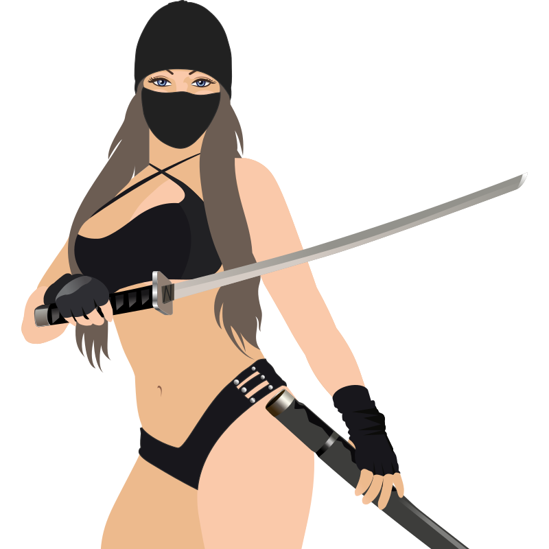 Clipart - Ninja Girl - REMIX