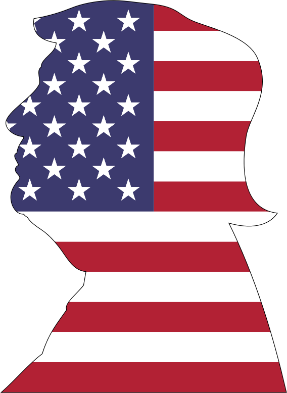 Clipart American Trump With Stroke