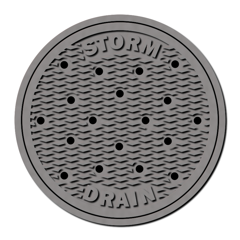 Street Iron by gubrww - A collection of cast iron manhole covers and the like. Inkscape filters are being used. The SVG files may not display properly in your browser.
