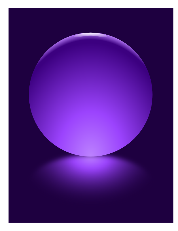 Clipart - Purple Sphere Blurred Reflection