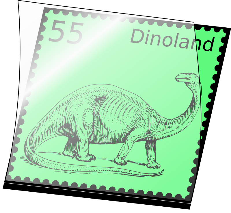 Dino stamp in stamp mount by kuhlo