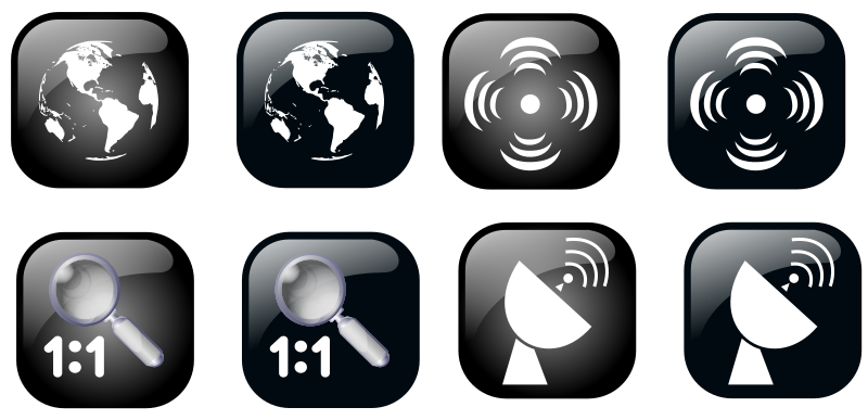 Map Geolocalisation Icon Set by ben