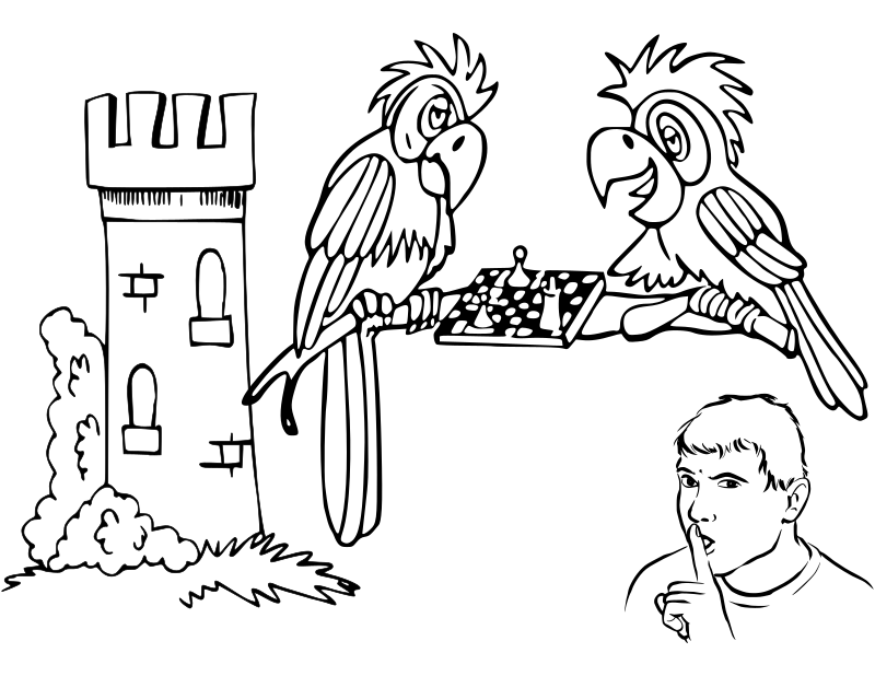 chess coloring pages downloads - photo#30