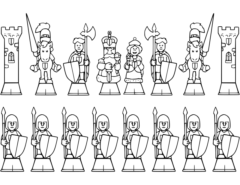 chess coloring pages downloads - photo#21