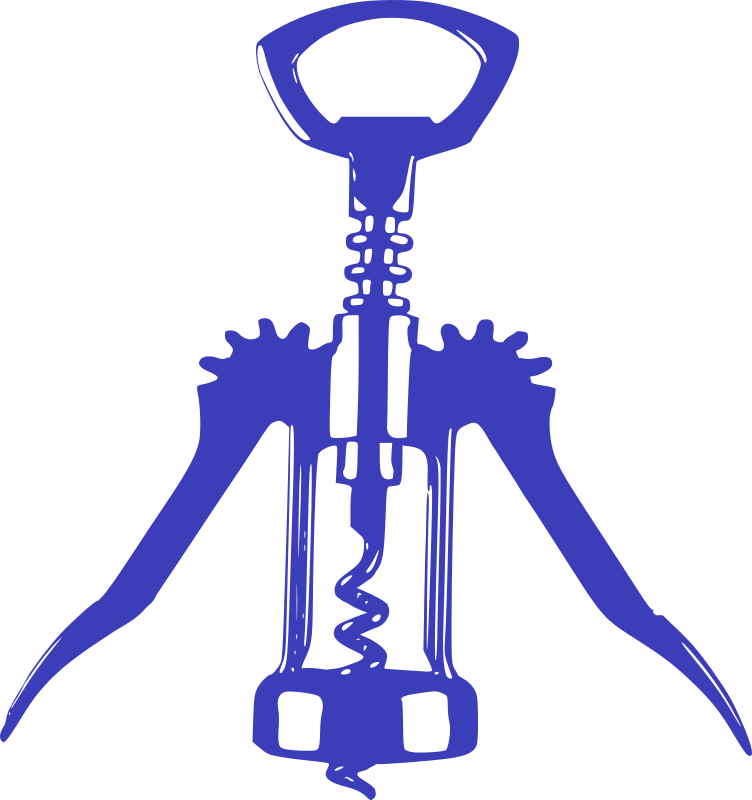 Clipart - Blue Bottle Opener