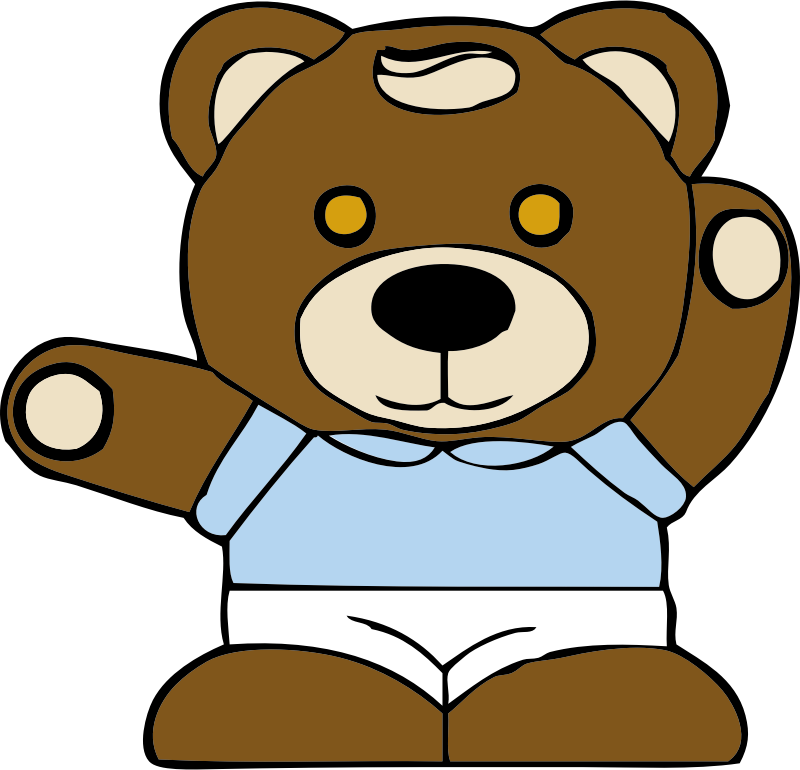 teddy bear by johnny_automatic - a teddy bear from a U.S. patent drawing