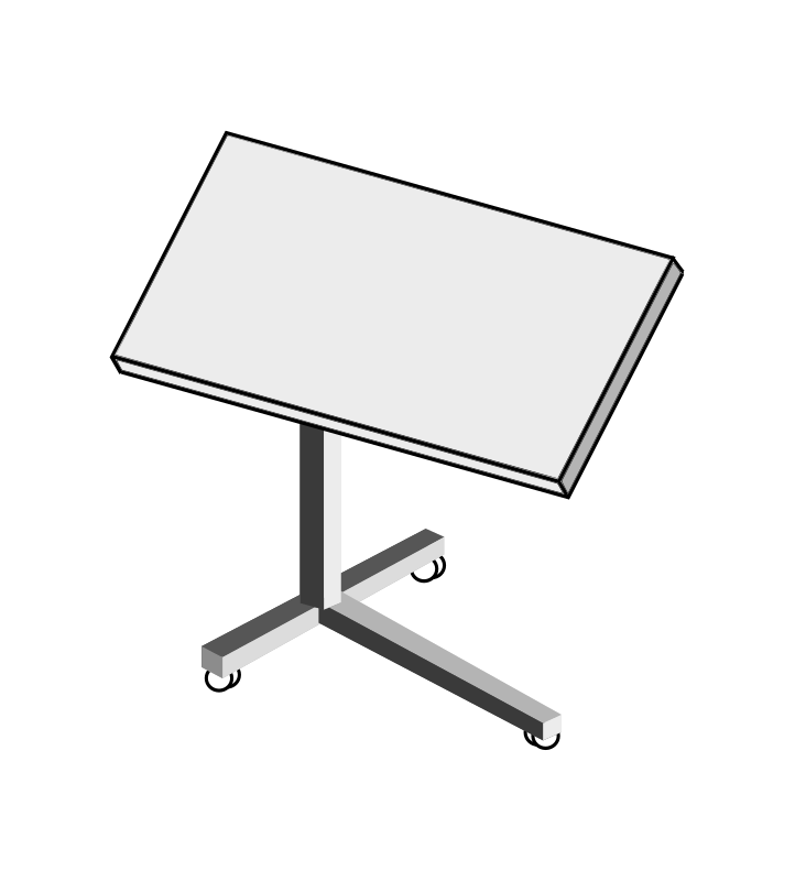 Rolling Laptop Desk by Struthious_Bandersnatch - an illustration of a rolling laptop desk