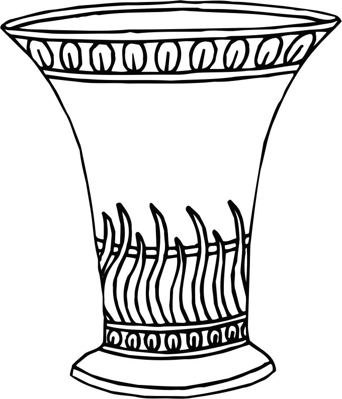 Line Drawing Vase : Clipart vase line drawing